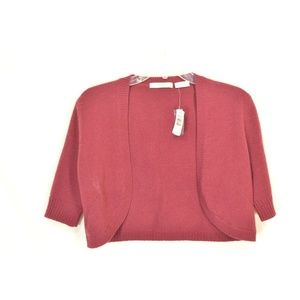 Neiman Marcus Sweaters - Neiman Marcus sweater M red 100% cashmere shrug bo